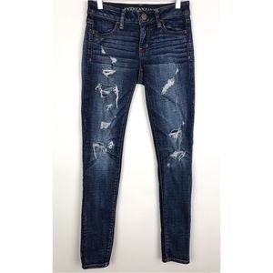 American Eagle Outfitters Destroyed Jegging Jeans